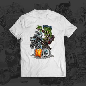 Franken Wheelie brit madding tshirt