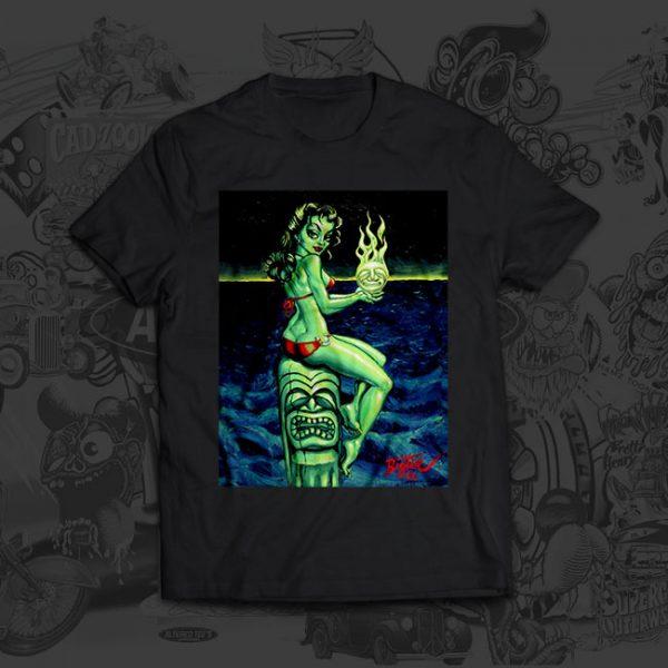 Green Goddess - Big Toe Art - Tshirt
