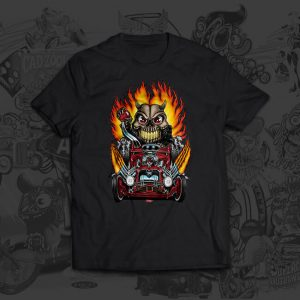 Hot Rod Skull Racer Brit Madding tshirt