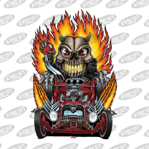 Hot Rod Skull Racer brit madding