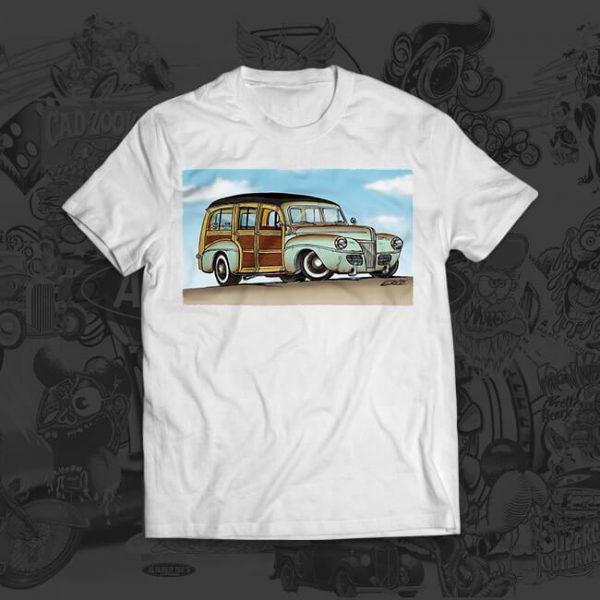 1941 ford surf woody - Mark Ervin - tshirt