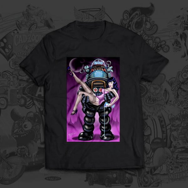 black robot n bettie - mark thompson - tshirt