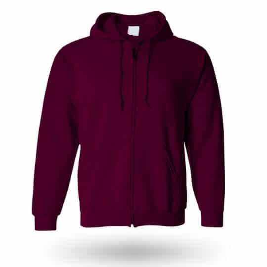 burgundy custom hoodie