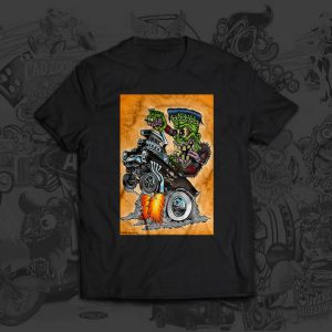 franken wheelie tshirt