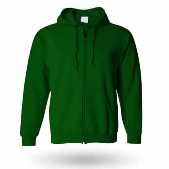 green custom hoodie