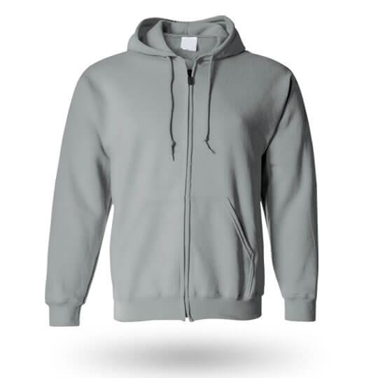 grey custom hoodie