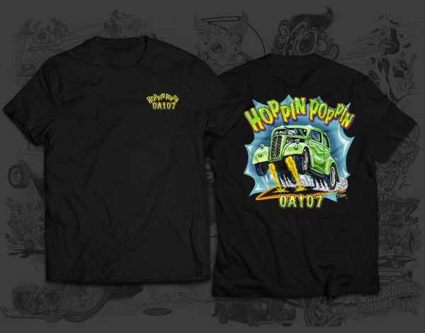 hoppin poppin racing team tshirt
