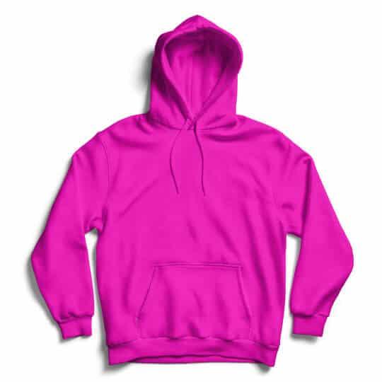 hot pink hoodie