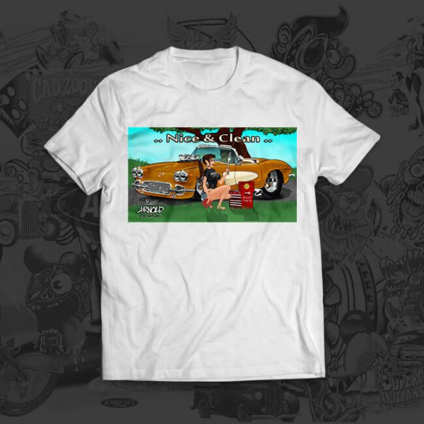 nice and clean - mark arnold artist tshirt