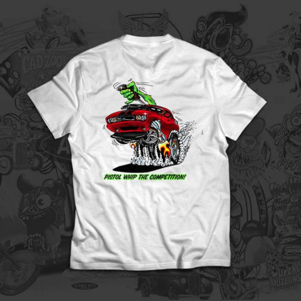 pistol whip red - john skidmore - tshirt