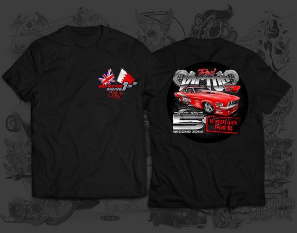 red victor race team tshirt
