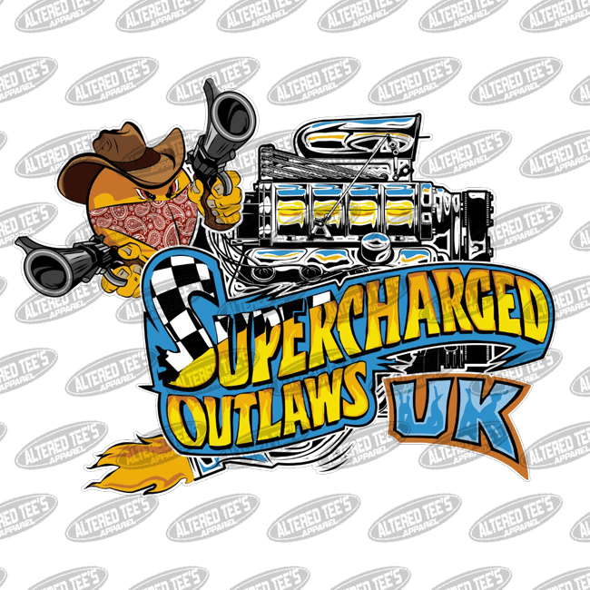 Supercharged Outlaws - Racing Team - Altered Tee's Apparel